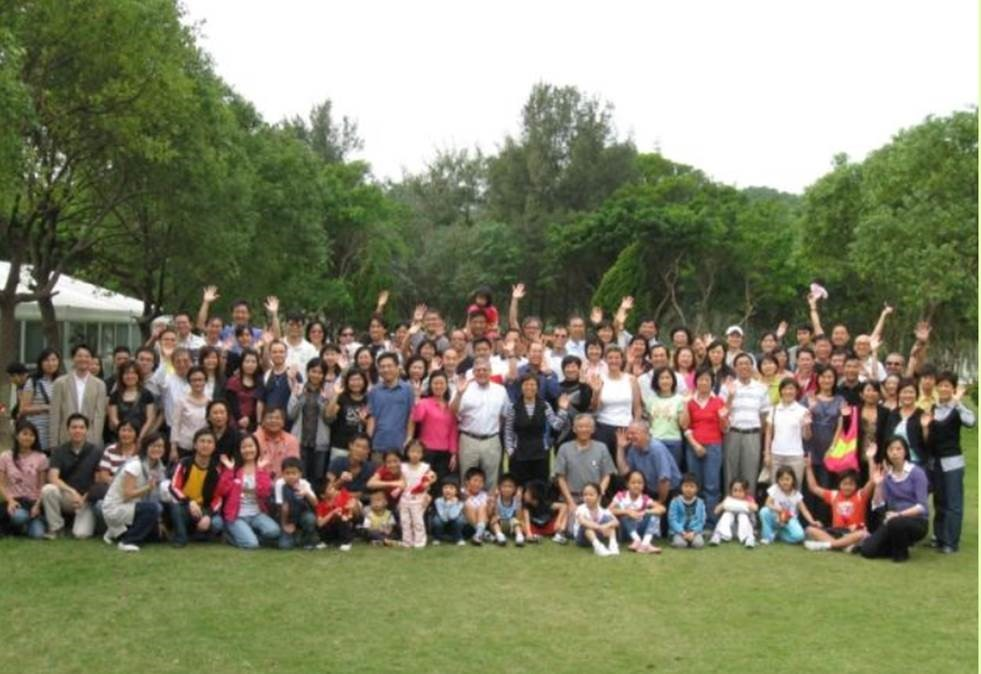 Janus and the big AsiaSat team on an excursion to Macau celebrating AsiaSat's 20th anniversary