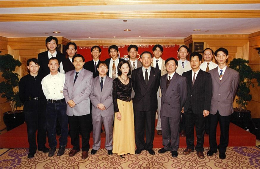 Fred (front row, third from right) with a bigger Operations Team as AsiaSat's satellite fleet continued to grow