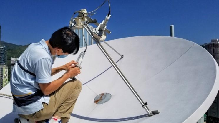 Antenna upgrade with AsiaSat filter