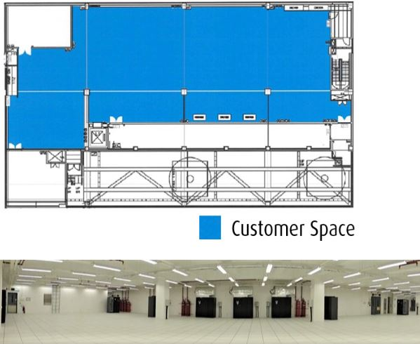 Data centre customer space