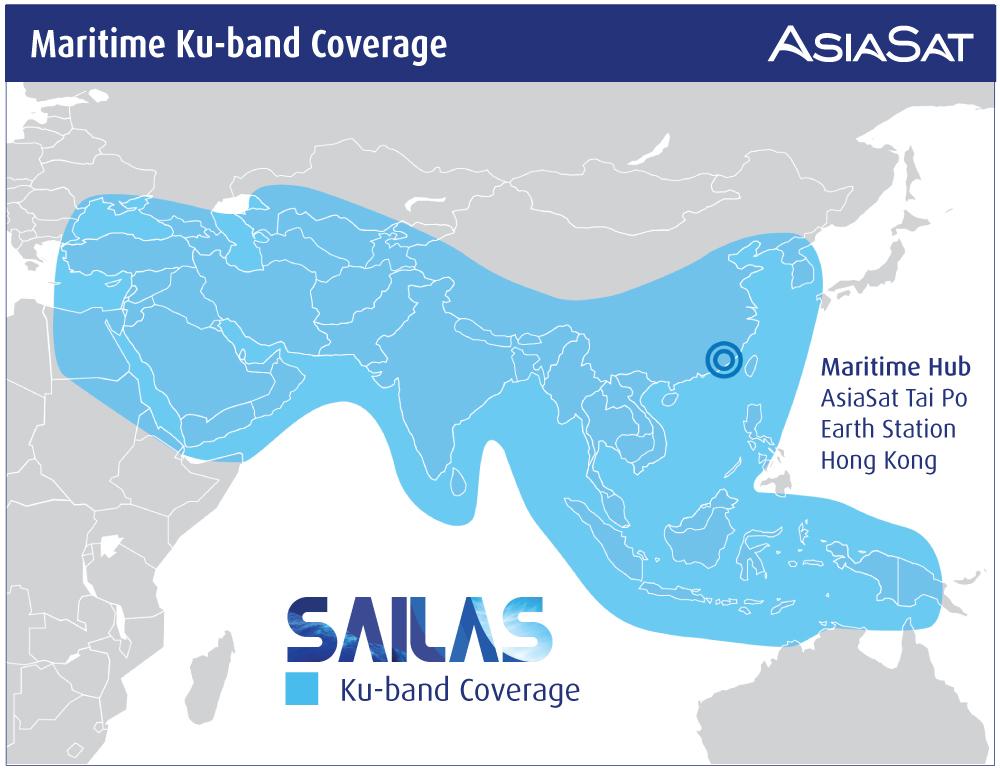 AsiaSat Maritime Ku-band Coverage - SAILAS PR