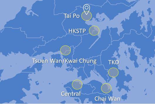 Data centre distance map